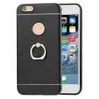 Protective TPU Case + Ring holder for Iphone 6 Plus / 6S Plus - Black