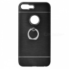 Protective TPU Back Case + Ring Holder for IPHONE 7 PLUS - Black