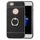 Protective TPU Back Case + Ring Holder  for IPHONE 7 - Black