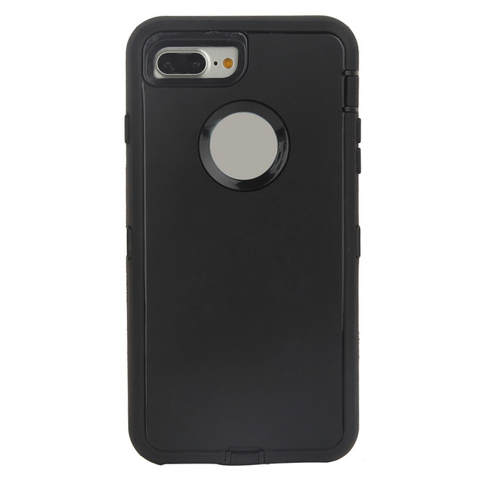 3-in-1 Shockproof Combo Phone Case for IPHONE 7 PLUS - Black