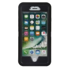 3-in-1 Shockproof Combo Phone Case for IPHONE 7 - Black + Transparent