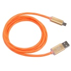Hat-Prince LED Flash Data / Charger Cable for Android Phone - Orange