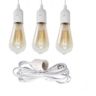 US Plug Pendant Light Fixture Cord Kit med On / Off Switch för E26 / E27 Base Lampor