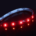 ZIQIAO Waterproof 15-LED 3W Flexible Light Strips - Red Light (30cm)