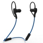 Sport Neckband Stereo Bluetooth Flat Cable Headset In-Ear Earphone w/ Microphone - Blue