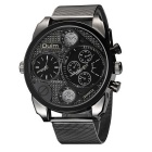 Oulm Men Full Steel Quartz Antique Male Casual Military Watch - Black
