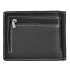 GUBINTU 6018# Men's Top Leather Wallet w/ Card Slots - Black