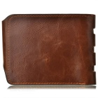 GUBINTU HF236 Retro Men's Leather Wallet - Coffee