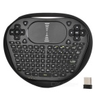 Mini Wireless Air Flying Keyboard Mouse w/ Touch Panel - Black