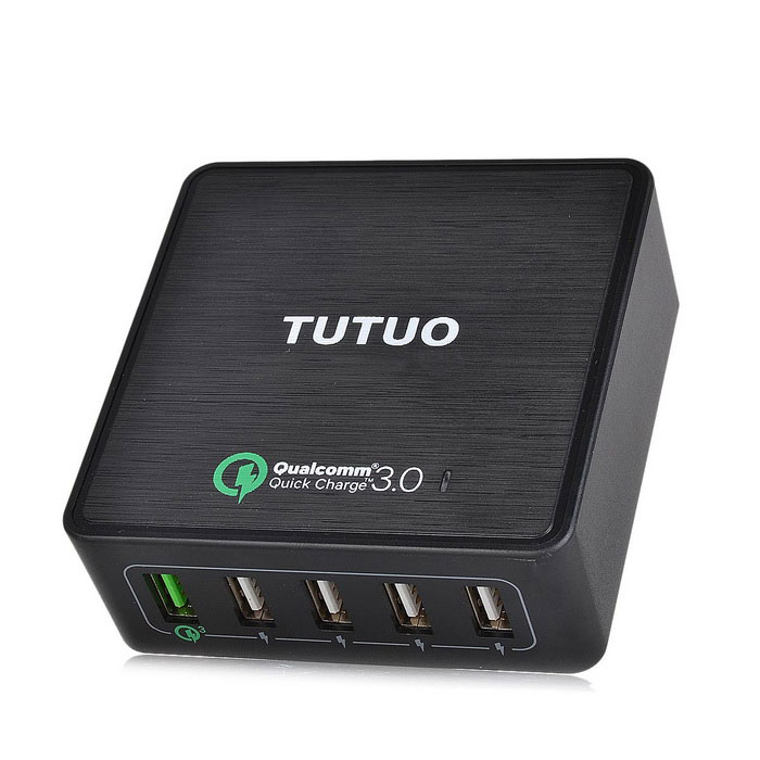 Tutuo 40W 5-Port USB Travel Quick Charger Universal Charger (EU Plug)AC Chargers<br>Form  ColorBlackModelQC-025PMaterialInflaming retarding plastic housingQuantity1 DX.PCM.Model.AttributeModel.UnitCompatible ModelsSamsung,LG,Xiaomi,iPhone,Android &amp; moreInput VoltageAC 100~240 DX.PCM.Model.AttributeModel.UnitOutput CurrentQC3.0: 3.6-6.5Vdc/3A, 6.5-9Vdc/2A, 9-12Vdc/1.5A DX.PCM.Model.AttributeModel.UnitOutput Power40 DX.PCM.Model.AttributeModel.UnitOutput VoltageDC 5 DX.PCM.Model.AttributeModel.UnitPower AdapterEU PlugLED IndicatorYesCertificationCE,RoHSPacking List1 * USB Quick Charger1 * Power Cable<br>