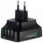 Tutuo 25W QC3.0 3-Port Universal USB Travel Quick Wall Fast Charger