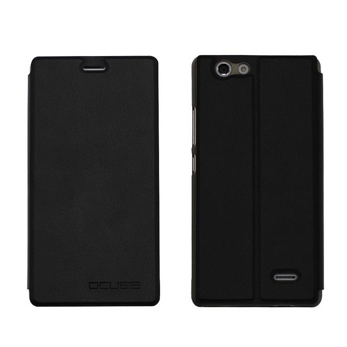 OCUBE PU Leather Case for Oukitel C4 Mobile Phone - Black