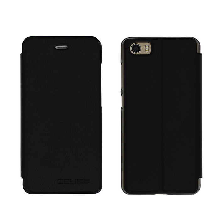 OCUBE PU Leather Case for Bluboo Picasso Mobile Phone - Black