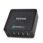 TUTUO 40W 5-Port USB Travel Quick Charger Universal Charger (US Plug)