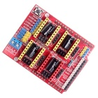 CNC Shield V3 A4988 Controller for RAMPS 1.4 Reprap 3D Printer - Red
