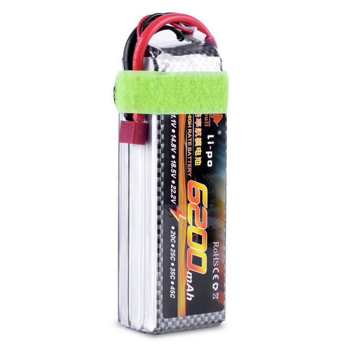 Universal 11.1V 6200mAh T Plug Lipo BatteryBatteries &amp; Chargers<br>Form  ColorSilver GreyMaterialLIPOQuantity1 DX.PCM.Model.AttributeModel.UnitCompatible ModelsUniversalBattery Measured Capacity 6200 DX.PCM.Model.AttributeModel.UnitNominal Capacity6200 DX.PCM.Model.AttributeModel.UnitBattery TypeLi-polymer batteryVoltage11.1 DX.PCM.Model.AttributeModel.UnitInput Current6200 DX.PCM.Model.AttributeModel.UnitInput Voltage11.1 DX.PCM.Model.AttributeModel.UnitOutput Current6200 DX.PCM.Model.AttributeModel.UnitOutput Voltage11.1 DX.PCM.Model.AttributeModel.UnitPower AdapterOthers,TPacking List1 * 11.1V 6200mAh T Plug Lipo Battery<br>
