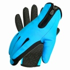 Cool Change Non-slip Damping Long Finger Gloves - Black (L / Blue)