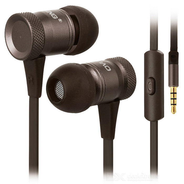Ovleng ip-370 Universal 3,5 mm Plug Wired In-Ear Hörlurar-Brun