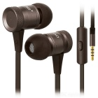 3.5mm Plug Wired In-Ear Earphones w/ Microphone for Mobile Phone