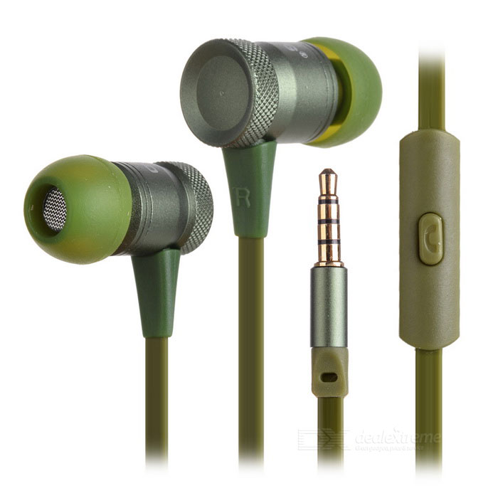 Ovleng ip-370 Universal 3.5mm Plug Wired In-Ear Earphones - Green