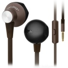 3.5mm Plug Wired In-Ear Earphones w/ Microphone for Mobile Phone / Computer