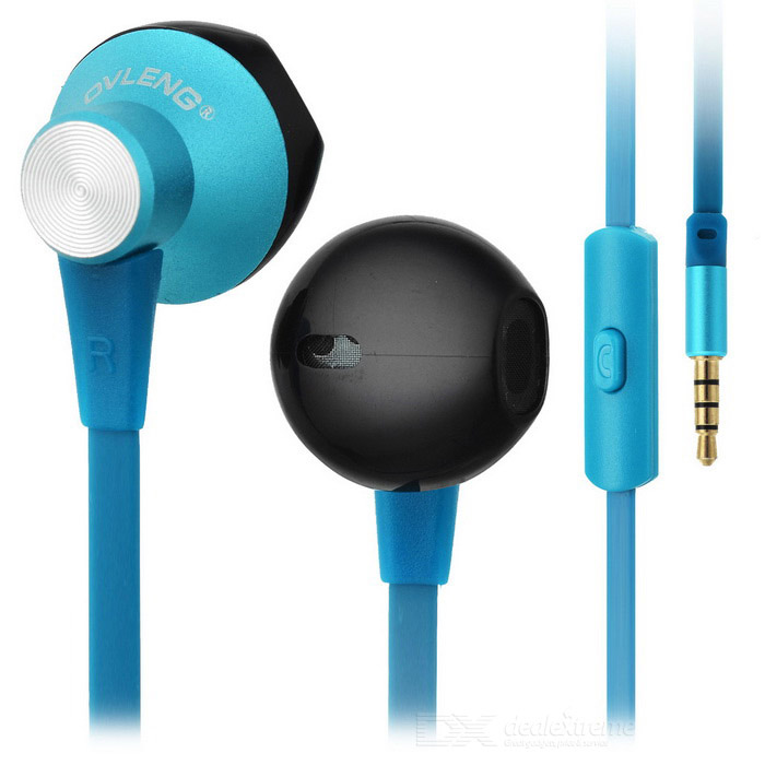 Ovleng ip-380 Universal 3.5mm Plug Wired In-Ear Earphones - Blue