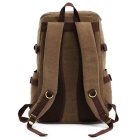 KAUKKO FJ76 Man's Retro Light Canvas Travel Backpack - Khaki