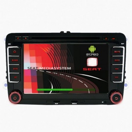 "Funrover LST001 7"" 1024*600 Quad-Core Android Car DVD Player for SEAT"
