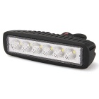 "Waterproof 18W 6"" 6 Epistar LED 6500K 1150lm Off Road Car Work Flood Light Lamp Bar (12V)"