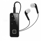 Collar clip-on en el oído estéreo Bluetooth auricular - negro