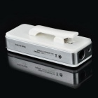 Collar Clip-on In-ear Stereo Bluetooth Earphone - White