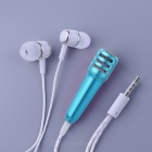 KICCY Universal In-Ear Earphone w/ Microphone - Blue