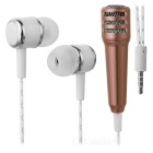 KICCY universal de auriculares in-ear w / micrófono - bronce antiguo