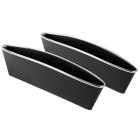 KICCY Car Seat Pocket Catch Caddy / Storage Containers - Black (2PCS)