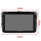 "Funrover 8"" Android OEM Car DVD Player w/ 1024*600 GPS for VW Golf"