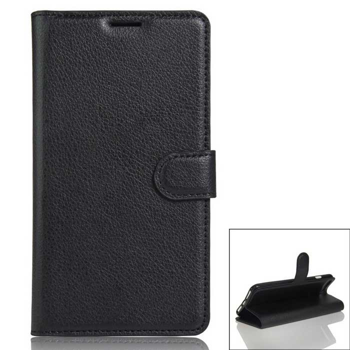Flip Open PU Leather Wallet Case for  IPHONE 7 Plus - Black