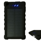 20LED 8000mAh Solar Recharger poder Banco w / LED Camping Lamp - Preto