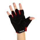 MOKE Breathable Shock Mitigation Half-Finger Cycling Gloves - Red (XL)