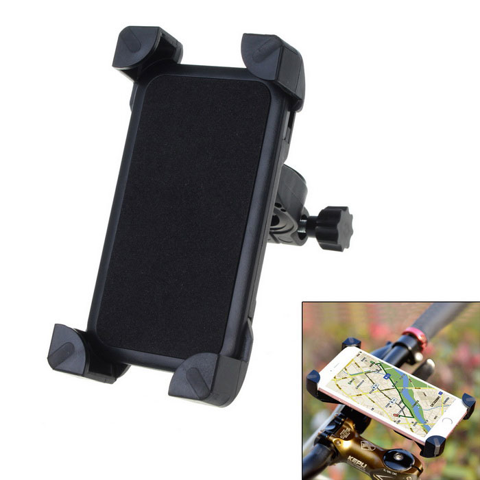 Bike Motorcycle 3.5~7.0-inch Mobile Feature Phones HolderBike Holder<br>Form  ColorBlackQuantity1 DX.PCM.Model.AttributeModel.UnitMaterialABSBest UseCycling,Mountain Cycling,Recreational Cycling,Road Cycling,Bike commuting &amp; touringTypePhone HoldersPacking List1 * Holder2 * Pads<br>