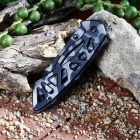 Outdoor Function Folding Knife With Shark Teeth Folding Knife - Black