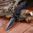 Outdoor Multi-function Stainless Steel Folding Knife - Black