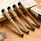 S28 0.5mm Wooden Style Gel Ink Roller Ball Pens (6PCS)