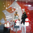 Removable DIY 3D Christmas Snowman Decorative Wall Sticker