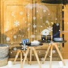Removable DIY 3D Christmas Snowflake Decorative Wall Sticker - White