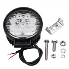 QooK Round 9 LEDs High Power Fog Backup Car Truck Offroad Light Lamp