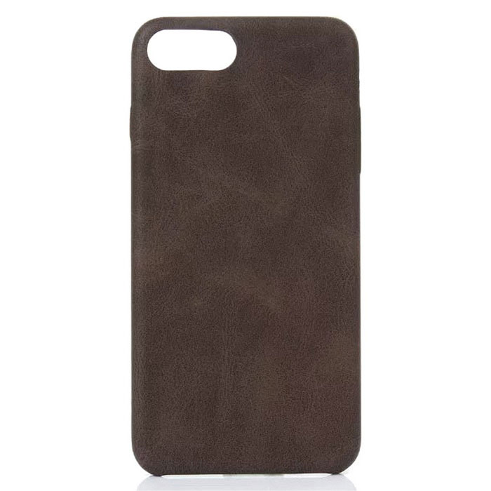Retro Pattern PU Protection Back Shell for IPHONE 7 - Dark Brown