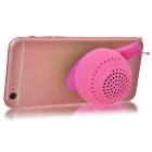 KICCY Cute Snail Style 3W Bluetooth V4.0 Speaker / Phone Stand - Pink
