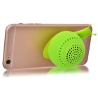 KICCY Cute Snail Style 3W Bluetooth V4.0 Speaker / Phone Stand - Green