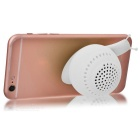 KICCY Cute Snail Style 3W Bluetooth V4.0 Speaker / Phone Stand - White