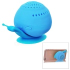 KICCY Cute Snail Style 3W Bluetooth V4.0 Speaker / Phone Stand - Blue